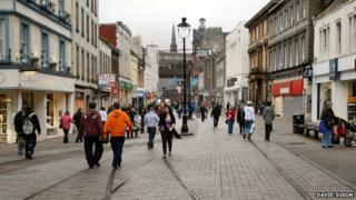 Dundee city centre (Murraygate)