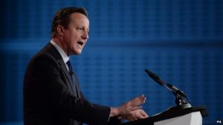 David Cameron speaking at the British Chambers of Commerce annual conference