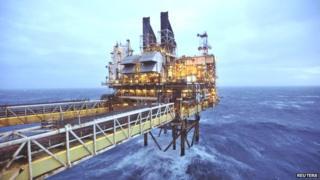 Rig in north sea