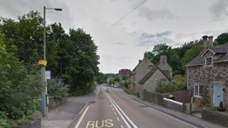 Speed camera on the Bath road at Saltford