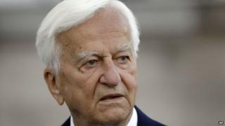 Richard von Weizsaecker who died on 31 January 2015 at his 90th birthday reception on 15 in April 2010.