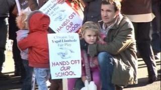 Campaign protest