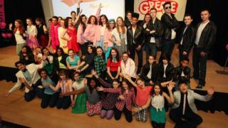 Bulmershe School performing Grease