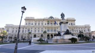 A view of the Italian Court of Cassation headquarters in Rome on 11 February 2015
