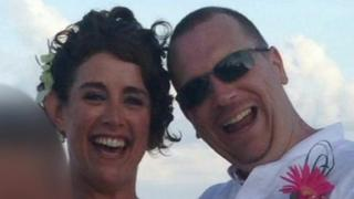Adrian Linham with his second wife Haley Totterdell