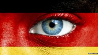 German flag with eye
