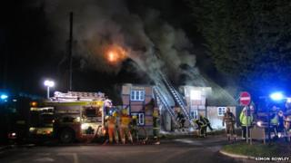 Thatched fire in Sopley