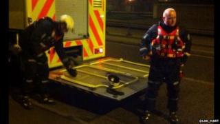 London Ambulance Service help the Met