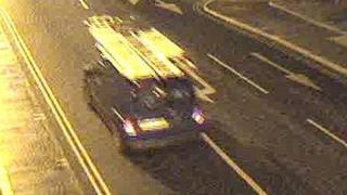 CCTV image of van
