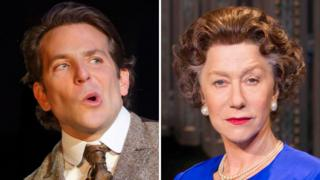 Bradley Cooper in The Elephant Man and Dame Helen Mirren in The Audience