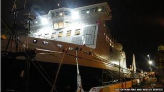 Fire crews from Douglas attended a call to Isle of Man Steam Packet Company's Ben-My-Chree which had lost control in Douglas Harbour