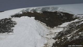 Avalanche at Corie Ardair