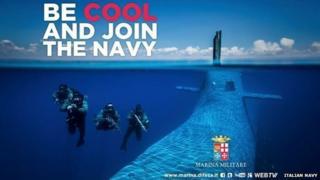 An Italian navy poster
