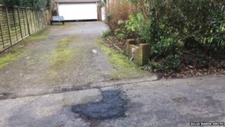 Road repairs outside Julia Baker-Smith's home