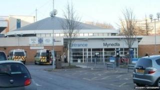 University Hospital of Wales, Cardiff main entrance
