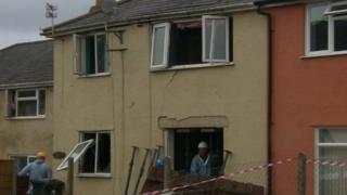 Explosion house, High Nash, Coleford, Glos