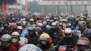 """Migrant workers are know as """"the backbone"""" of China's economy"""