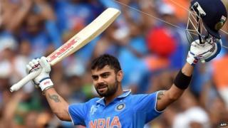 Virat Kohli scored 107 in the match