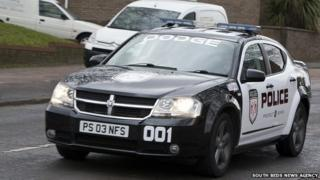 Replica police car