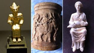 Artefacts looted from Syria