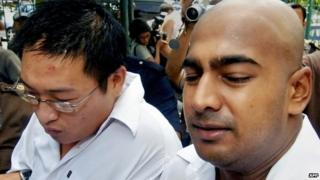 Andrew Chan and Myuran Sukumaran, pictured in 2006