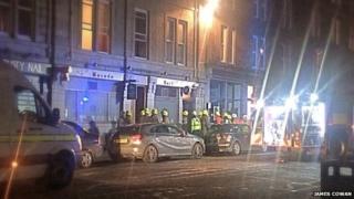 Firefighters at Masada Bar in Aberdeen