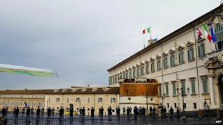 A view of the Quirinale Palace
