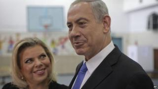 Benjamin Netanyahu and his wife Sara (2013)