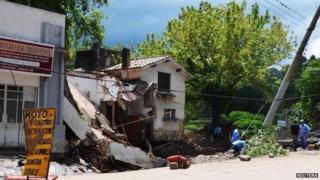 Storm destruction in Cordoba, Argentina