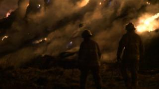 Minster Lovell hay fire