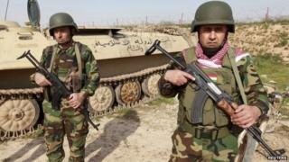 Kurdish Peshmerga fighters in northern Iraq (4 February 2015)