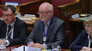 Gavin Boyd (centre) will lead the new Education Authority from 1 April as its interim chief executive