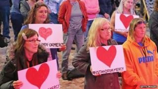 A vigil in Melbourne, Australia