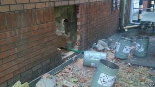 Hole smashed in wall during copper robbery