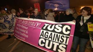 Milton Keynes Council protest