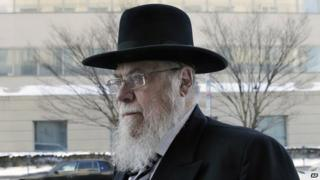 Rabbi Mendel Epstein arrives for his trial at federal court in Trenton on 18 February 2015.