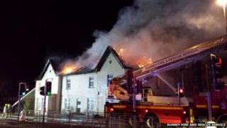 Fire in East Street, Epsom
