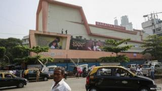 "A general view of Maratha Mandir theatre screening Bollywood movie ""Dilwale Dulhania Le Jayenge"" (The Big Hearted Will Take the Bride), starring actor Shah Rukh Khan, in Mumbai December 12, 2014"