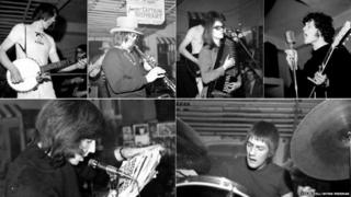 Simon Nicholl from Fairport Convention, Captain Beefheart, Judy Dyble from Fairport Convention, Pete Drumond and Mick Fleetwood