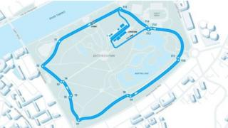 Route for Formula E race in Battersea