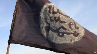 Boko Haram flag in Gamboru, Nigeria