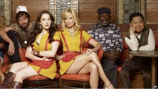 Cast members from the CBS show 2 Broke Girls