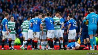 Old Firm match at Hampden