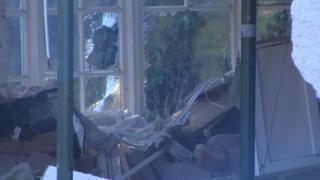Damage to the front room of the property