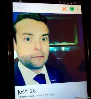 Josh Mason's 'selfie' at the crematorium