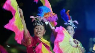 People celebrated the Chinese New Year in Sydney, Australia