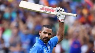 India's Shikhar Dhawan played a controlled innings of 137 against South Africa
