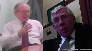 Secret filming images of Malcolm Rifkind and Jack Straw