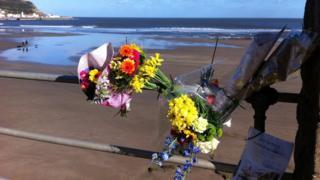 Floral tribute in Scarborough