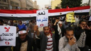 People protest against the Houthi takeover in Yemen in Sanaa (23 February 2015)